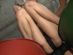 Kinky bitch Rika Aina gets tied up and fucked with dildos