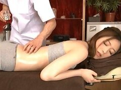 Japanese Babe Sucks and Fucks The Masseuses' Cocks In Threesome
