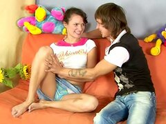 It's no deal for an experienced seducer to get young cutie like Olga