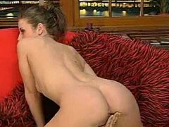 Real whore Erica Campbell showing off her humps on the couch