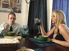 Busty blonde cougar Julia Ann seduces and fucks horny stud Ramon