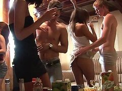 College Orgy With Horny Teens And Their Wet Pussies