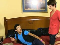Gay movie Timo Garrett finds Dustin Cooper practicing his or