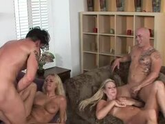 Lustful couples enjoy swapping each others wives