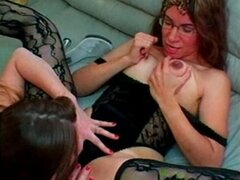 Mature Housewife plays with Her Young Maid