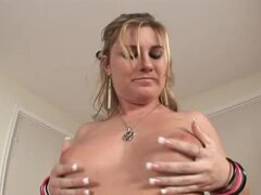 Chubby milf Hayden Night stuffs her snatch with big toys