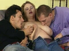 Awesome threesome romp with bbw