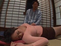 Satsuki Kirioka loves masturbating next to her sleepy husband