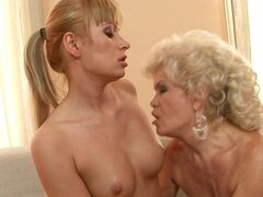 Awesome Threesome With Blonde Babe and Horny Granny