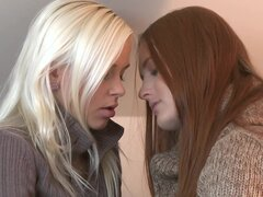 Two alluring lesbians are licking pussies so hot