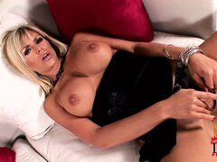 Ever wonder what blonde MILF Wanda does when she's horny and alone?