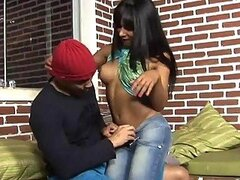 Teen tranny uses her juicy ass