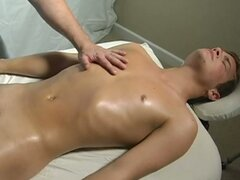 Straight guys first massage ending...