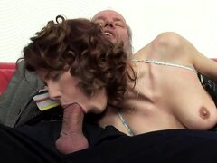 "This horny redhead knows how to pleasure her man -- even if the ""man"" is about 70, has a hairy ass hole, and likes it fingered. OH, and she gives great head, too. Enjoy, friends!"
