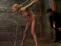 Cruel BDSM games with horny chick