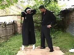 Nun and Priest Going Hot and Heavy in Outdoor Sex Vid