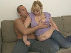 Bbw blonde gets picked up for a dick ride