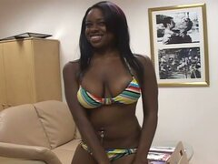Two ebony babe sweet cum eating and suck a hard white dick