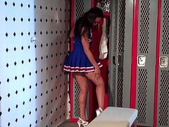 Black Cheerleader Misty Stone Gets an Interracial Fuck in the Locker Room