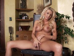 Blonde Alicia Secrets bangs her ass with force