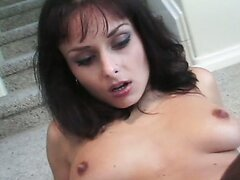 Trashy looking Daniella Rush getting her asshole drilled by Mark Anthony