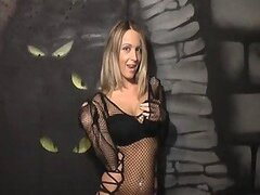 Girl in black lingerie gives jerk off instructions