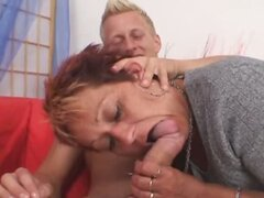 He loves to fuck a dirty granny slut