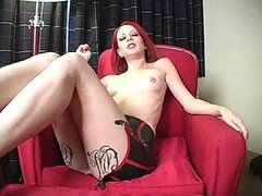 Redhead tells you to jerk off for her