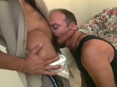 Hairy gay sheriffs blow each other