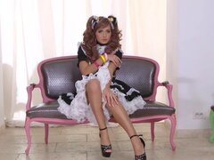 French maid dress is intoxicating
