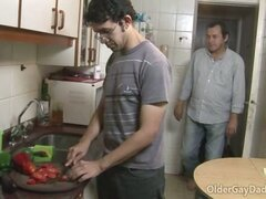 Horny Gay Daddies Jasper And Joao Fuck In The Kitchen
