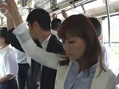 Fucking a Japanese Lady In The Bus and In The Office