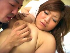 Massive tits asian babe opens hairy pussy for sweet cock invasion