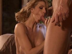 Hot and horny bitch Roxanne Hall shows off her cock sucking talents