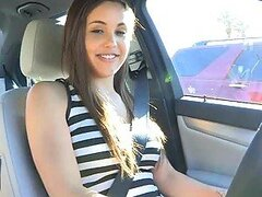 Stunning Teeny Babe Out For a Drive In The Nip