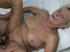 Under the Blanket is Not Fun For This Horny and Nasty Granny
