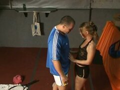 Dutch blonde fucked by tennis instructor