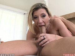 The busty milf sucks that dick like only she knows how...
