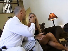 Hot Blonde Bridgette Kerkove Gets A Dp Fucking In Foursome
