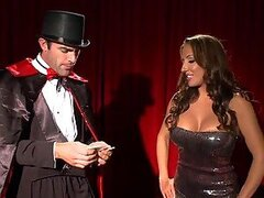 Magician Gets Titty Fucked By The Busty Brunette Richelle Ryan