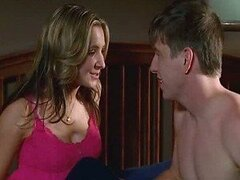 Extremely Hot Beverley Mitchell Exposes Her Big Jugs In a Violet Bra