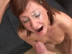 Sweet chicks get their faces covered with cum in compilation video