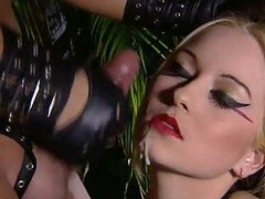 Amazing Blonde Puts On A Sexy Latex Outfit And Has Rough Anal Sex