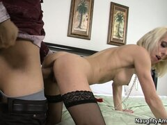 Jodie Stacks in a mature blonde hottie with a love for young Latinos