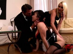 Chubby Asian maid with huge tits is humiliated by her bosses