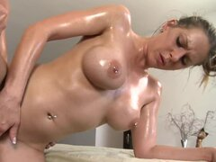 Brown-haired hottie Rachel RoXXX gets seduced and fucked by the lewd masseur