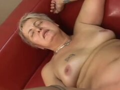Slutty old bitch rides big hard cock like she is 18 years old