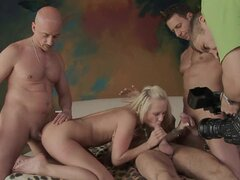 Carla Cox getting two giant cocks in her pussy and anal