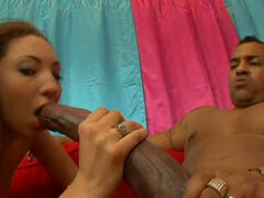 Hot babe fuck with a giant monster dick